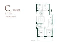 C户型121㎡三室两厅两卫