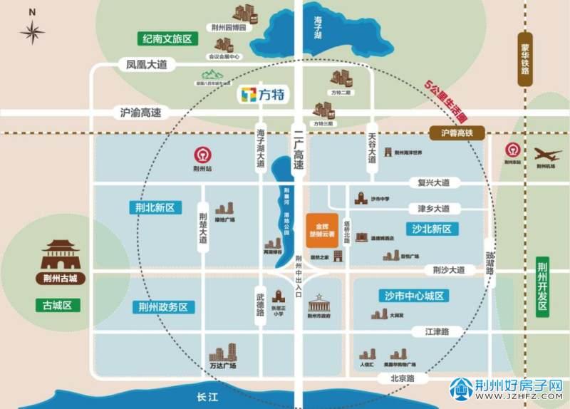沙市洋码头文创园项目区位图