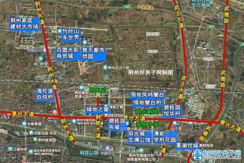 荆州荆北新区楼盘分布