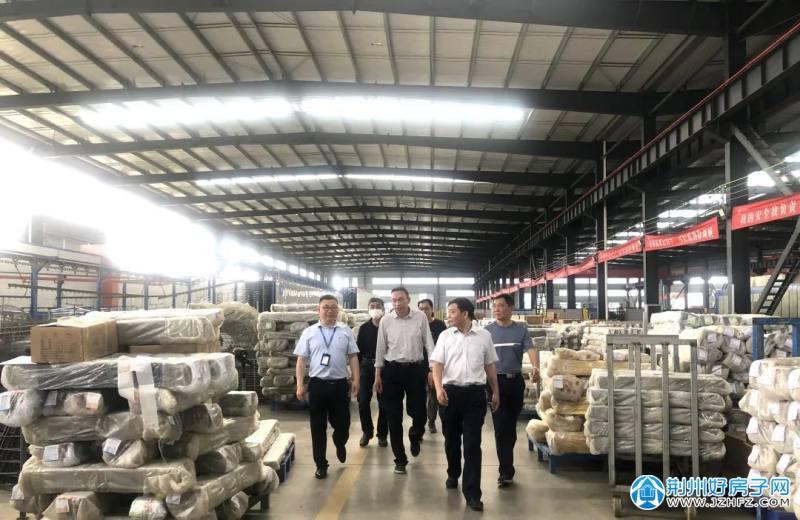 荆州区领导到城南高新园调研重点工业项目建设推进情况