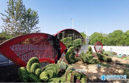 荆州火车站广场喜迎建党一百周年