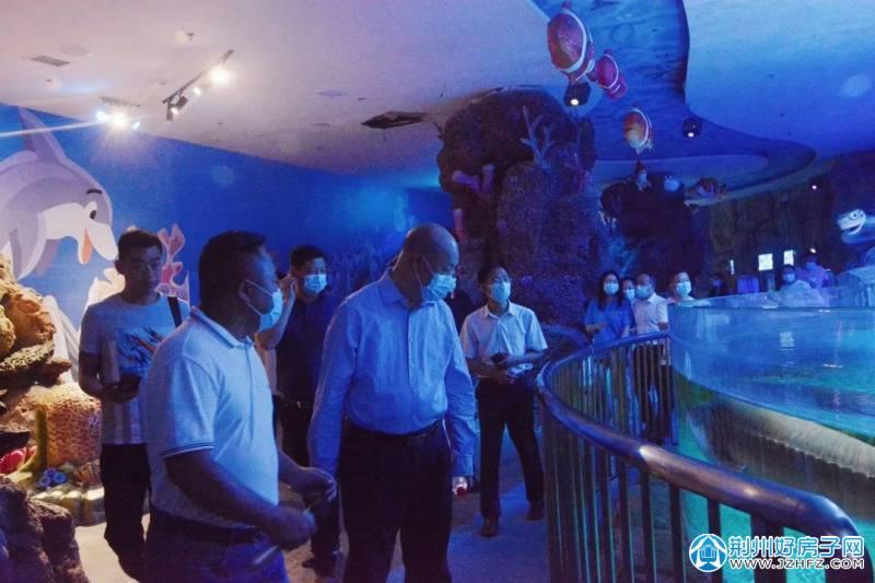 省发改委副主任杨颖来荆州海洋世界调研基本公共服务建设工作