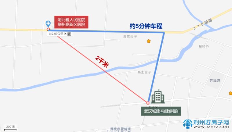 荆州高新区医院位置