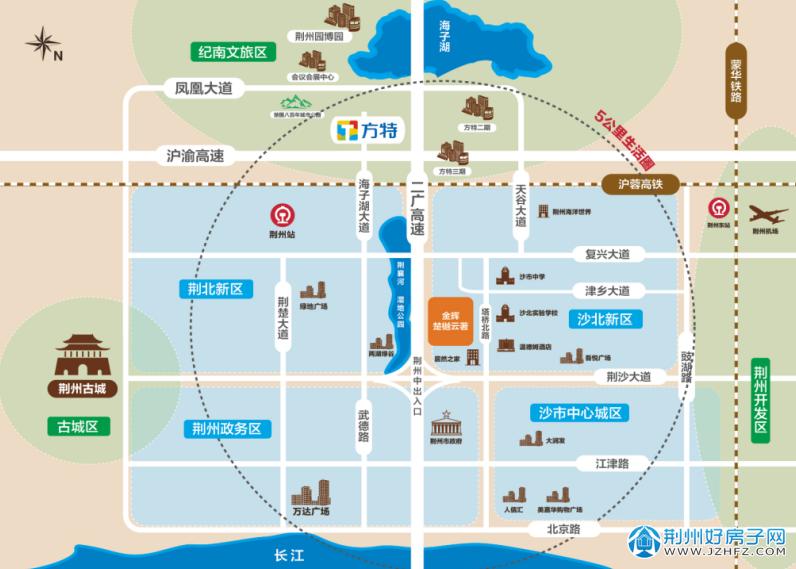 金辉楚樾云著项目区位图