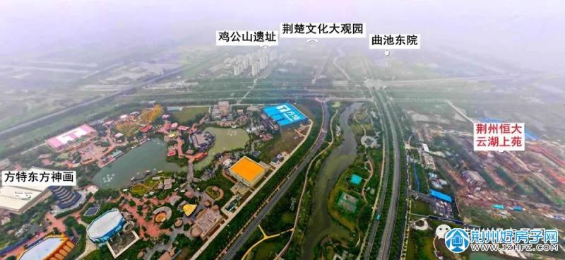 荆州恒大云湖上苑鸟瞰图