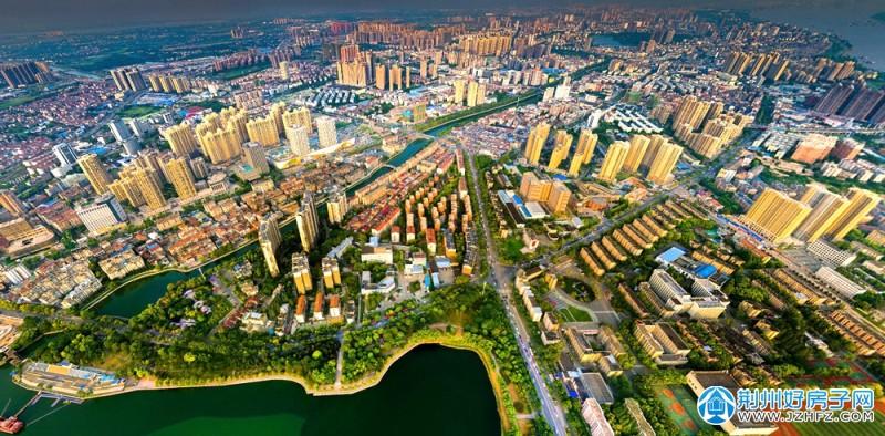 荆州鸟瞰图