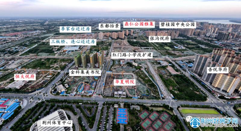 沙北新区(体育场以东)鸟瞰图