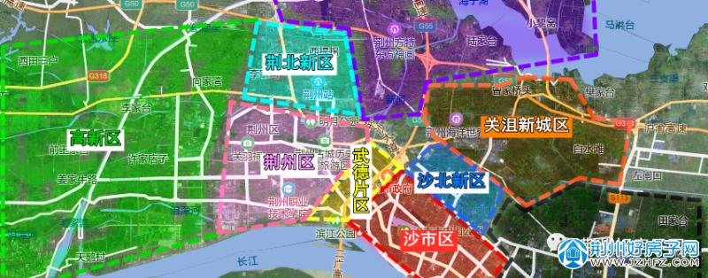荆州片区图