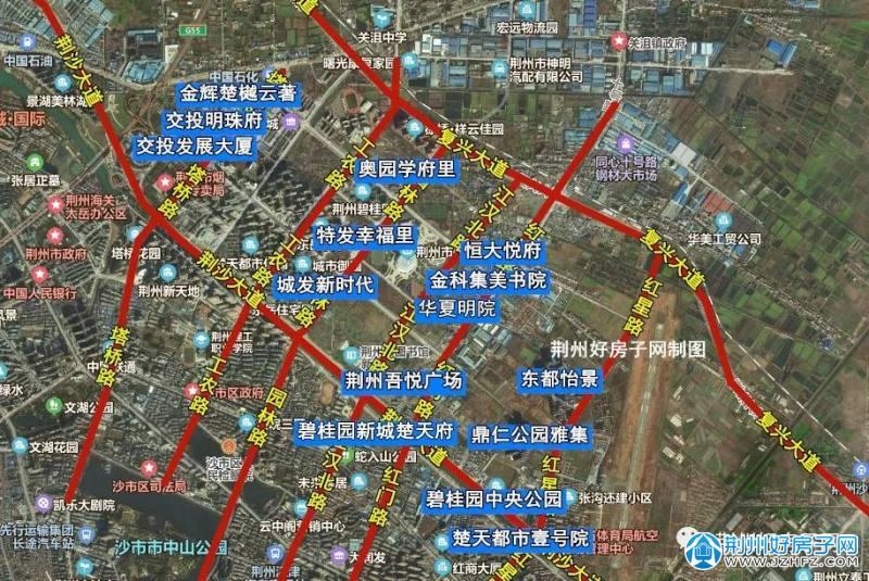 荆州沙北新区楼盘分布