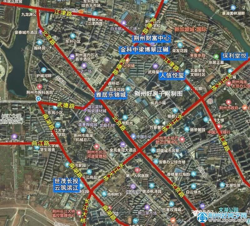 荆州武德片区楼盘分布