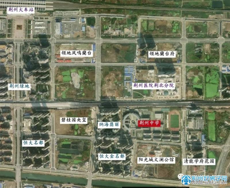 荆州中学区位图