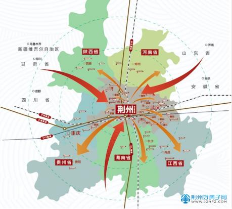 荆州市区位图