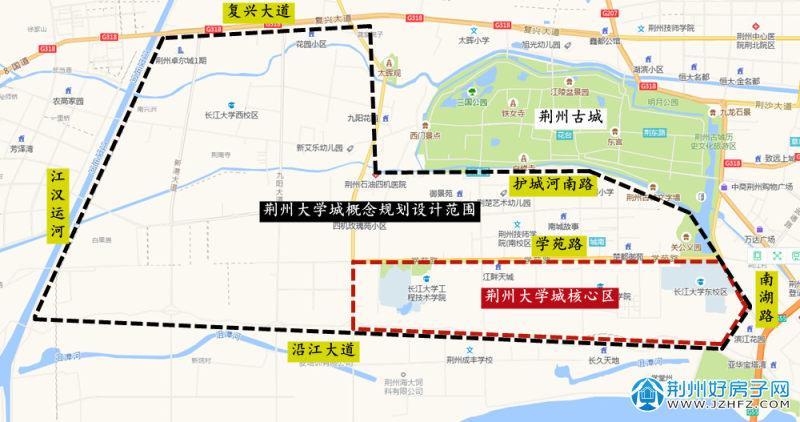荆州大学城规划