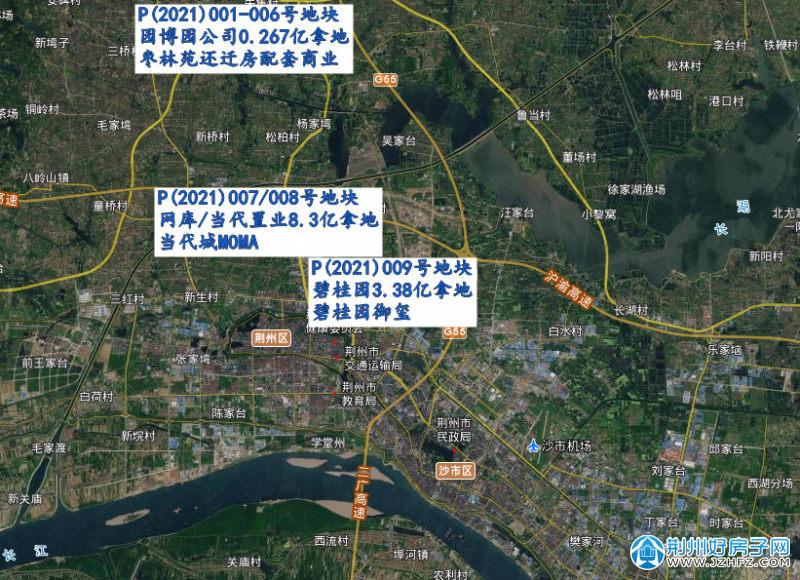 2021年上半年荆州土拍分布