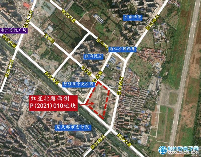 P(2021)010号地块(红框内)