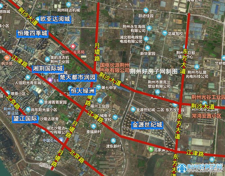 荆州城东片区楼盘分布