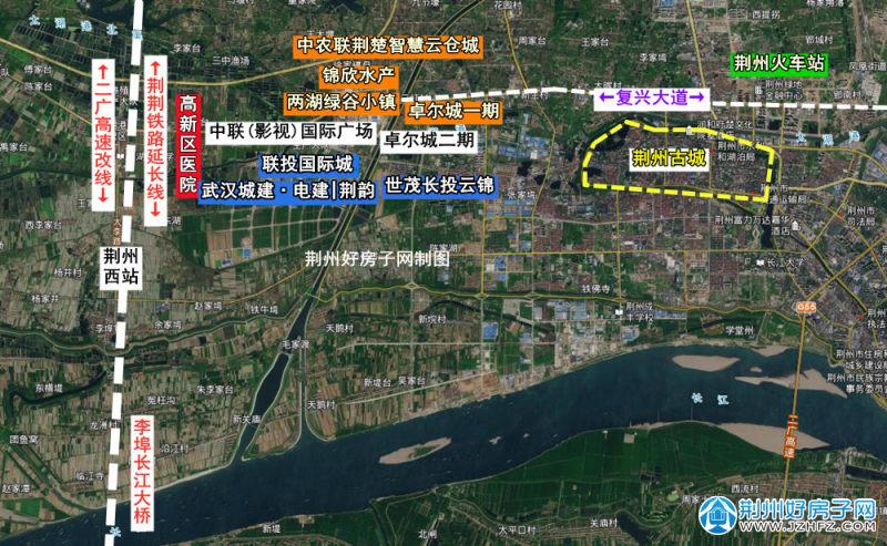 荆州高新区项目分布图