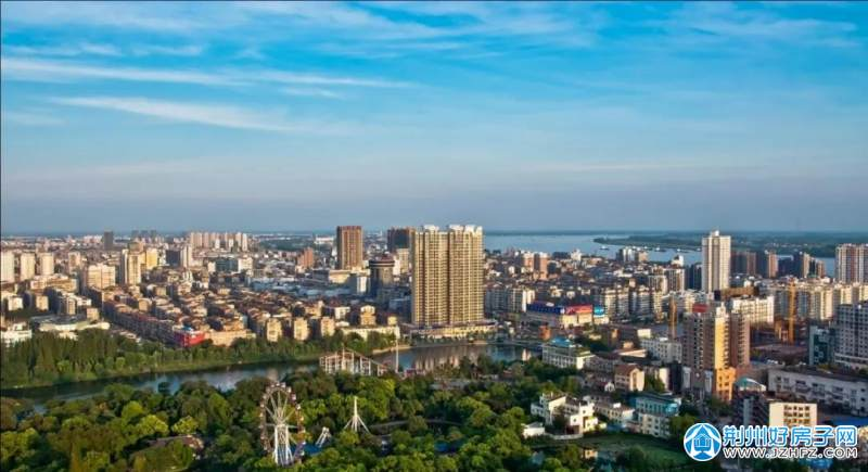 沙市城市鸟瞰图