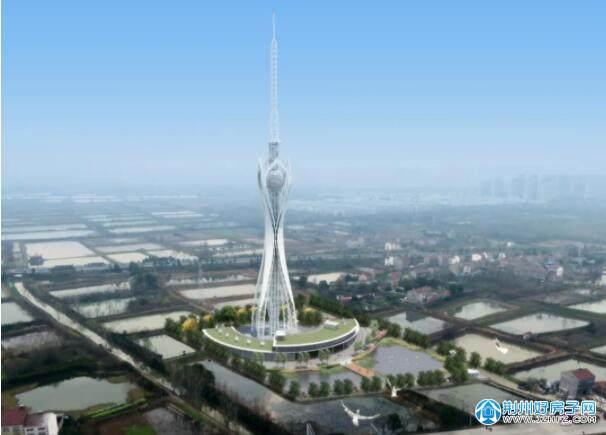 荆州广播电视发射塔效果图