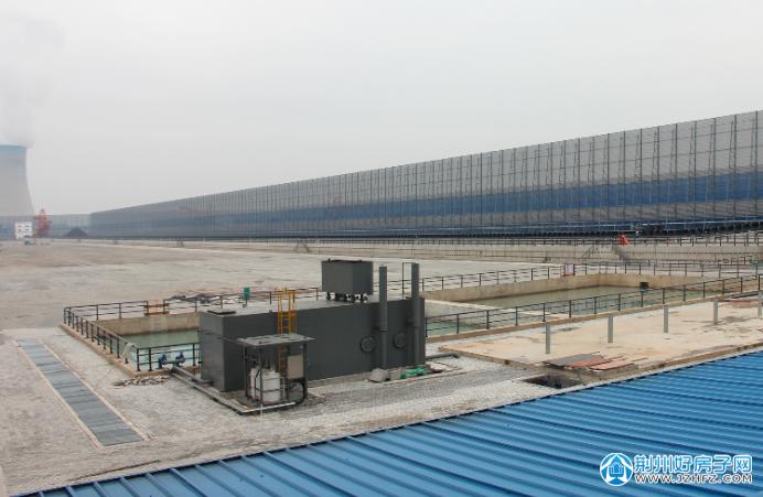 荆州煤储基地一期工程防风抑尘网全部安装完成