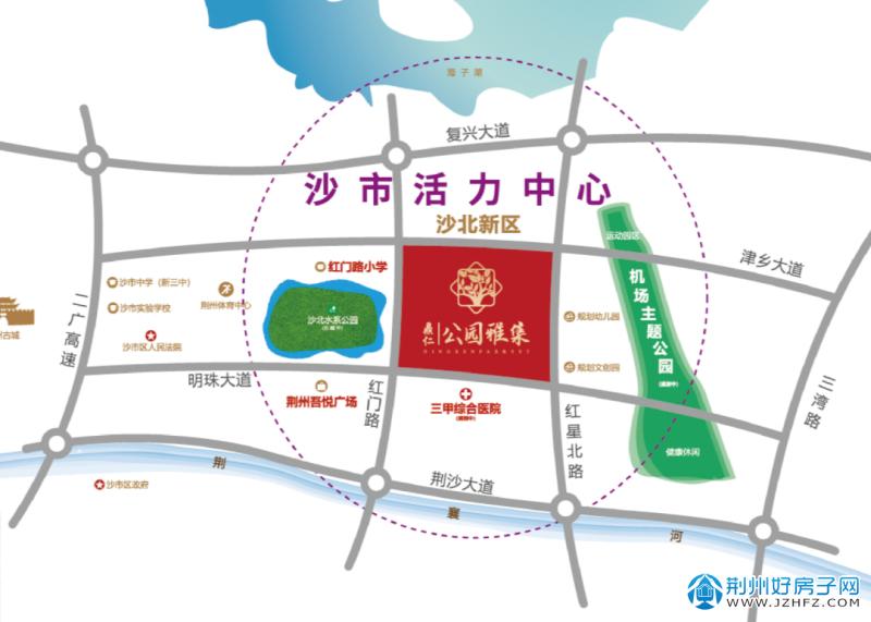 鼎仁·公园雅集区位图