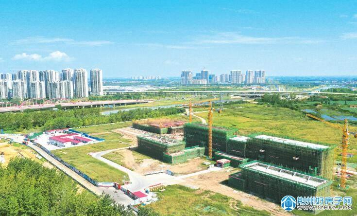 航拍荆州市委党校新校区 一期预计明年3月完工