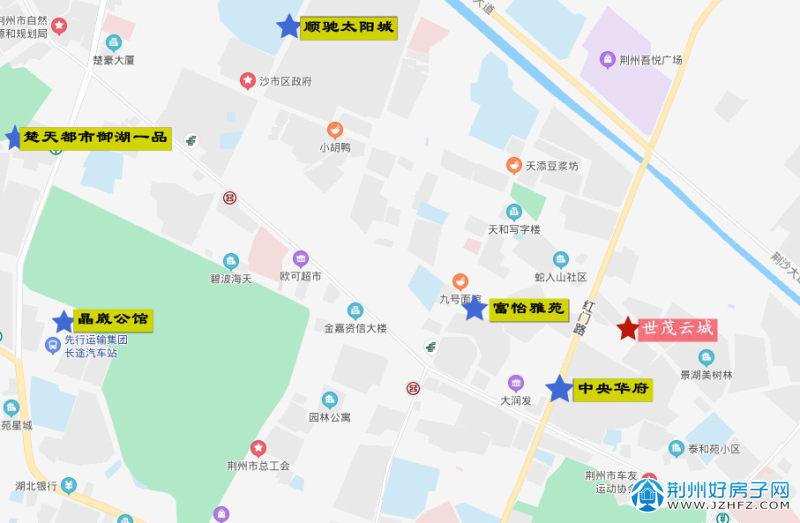 荆州过去二十年破纪录楼盘分布
