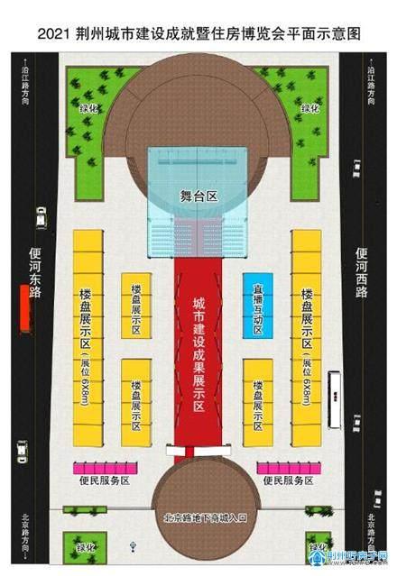2021荆州房博会平面示意图