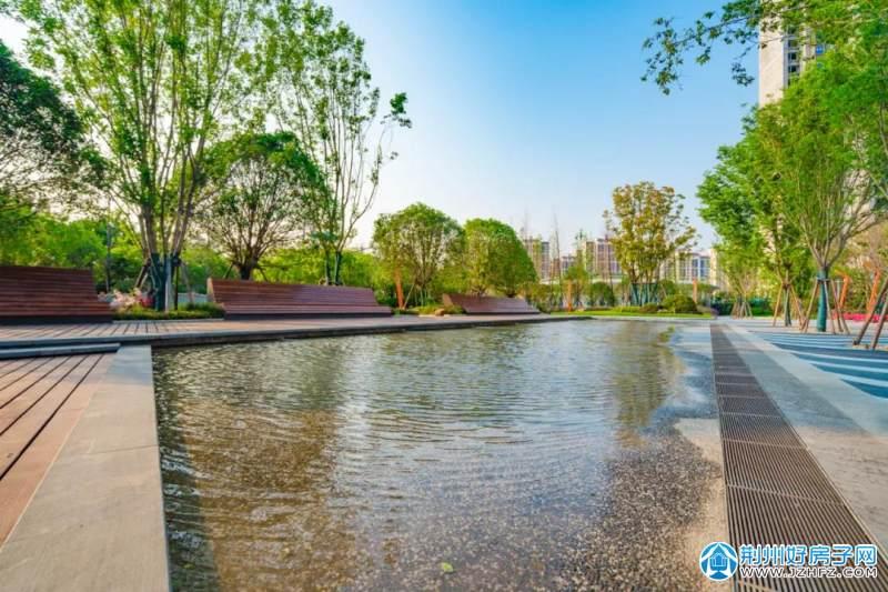 荆州保利·公园壹号|2万方曼哈顿式中央公园实景