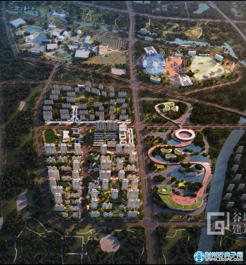 荆州保利·公园壹号|项目鸟瞰效果图
