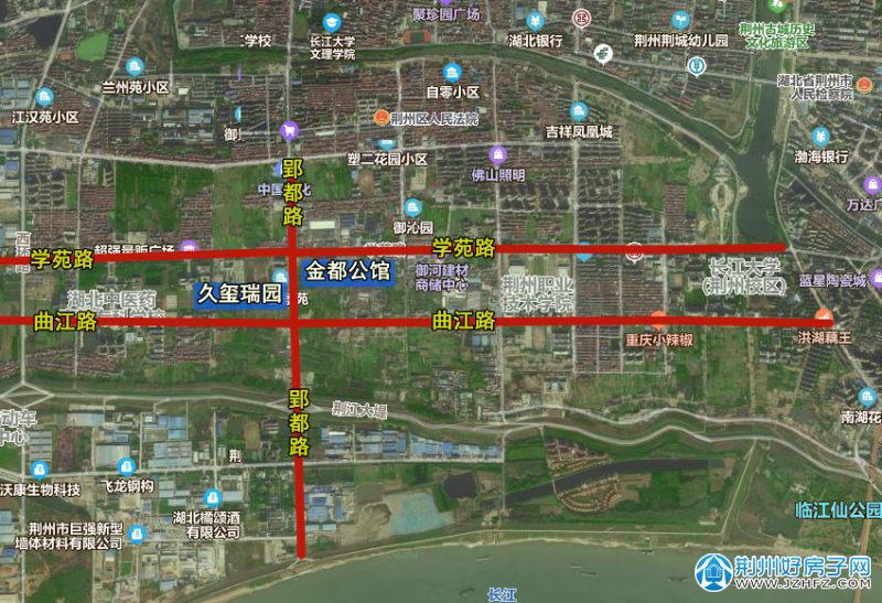 荆州城南片区楼盘分布