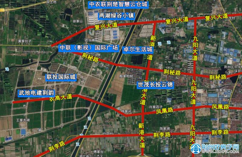 荆州高新区楼盘分布
