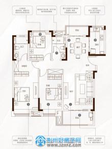132㎡三室两厅两卫F1户型