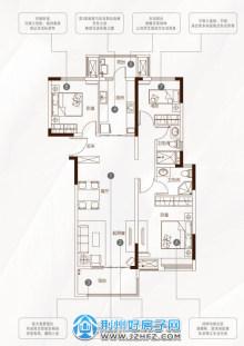 118㎡三室两厅两卫E2户型