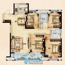 荆州吾悦广场142㎡四室两厅两卫D1户型