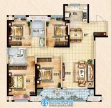 荆州吾悦广场142㎡四室两厅两卫D2户型