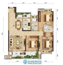 125㎡三室两厅两卫边套A2户型