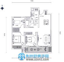 98㎡三室两厅一卫户型