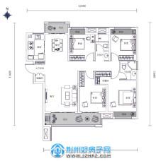 138㎡三室两厅两卫户型